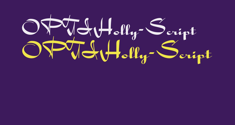 OPTIHolly-Script