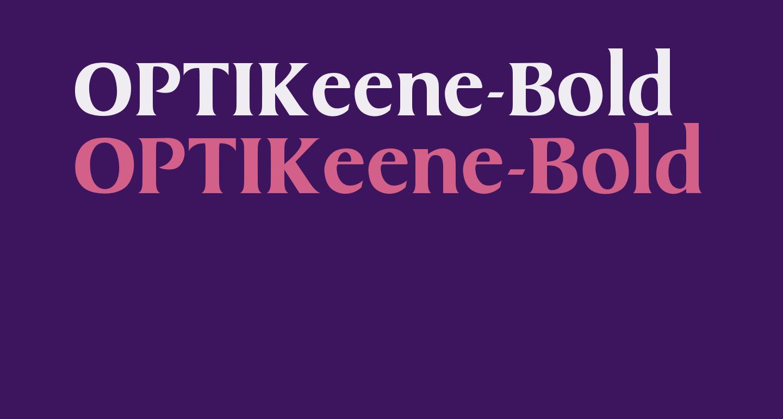 OPTIKeene-Bold