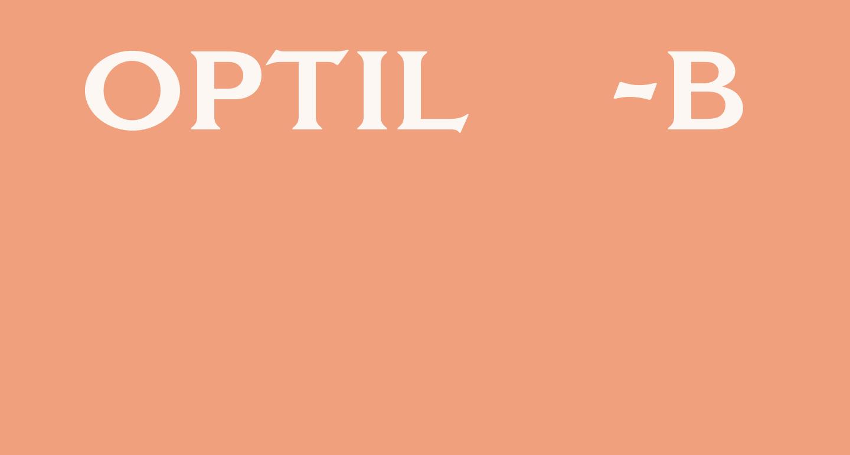 OPTILagoon-Bold