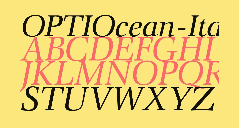 OPTIOcean-Italic