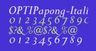 OPTIPapong-Italic