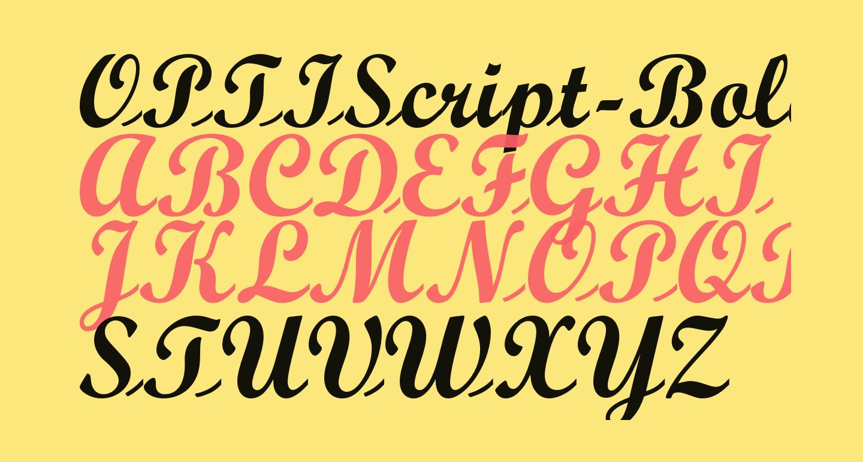 OPTIScript-Bold