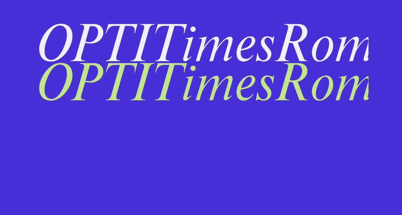 OPTITimesRoman-Italic