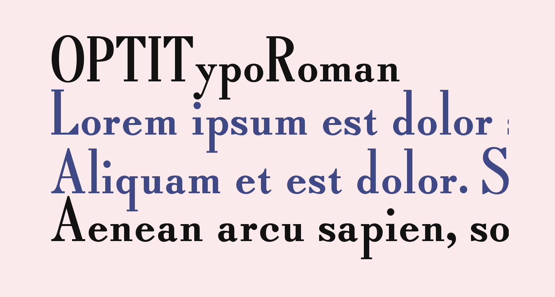 OPTITypoRoman