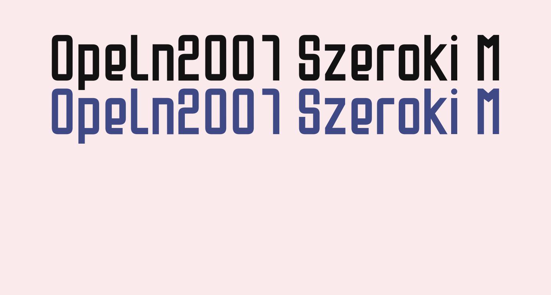 Opeln2001 Szeroki Metro