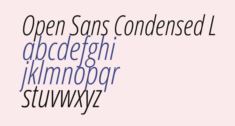 Open Sans Condensed Light Italic