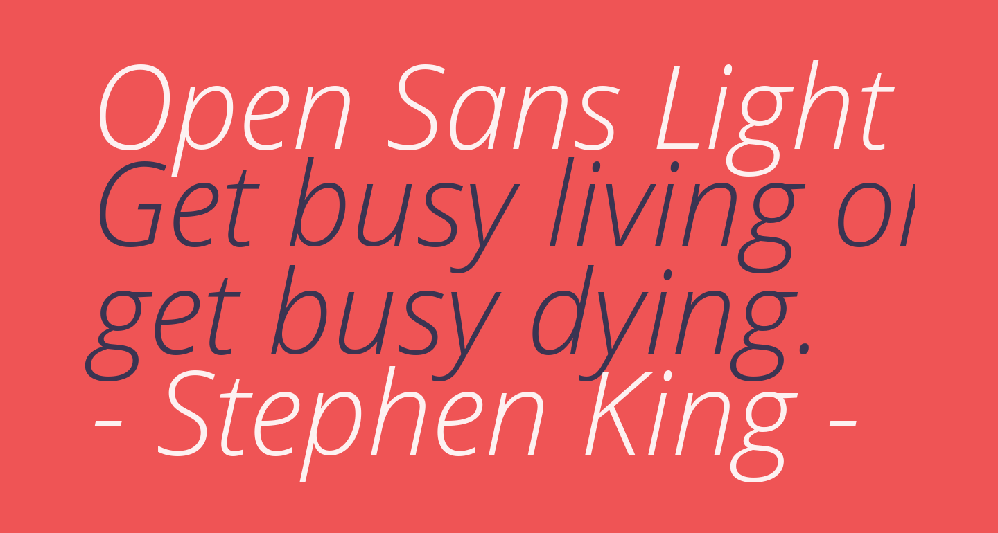 Open Sans Light Italic