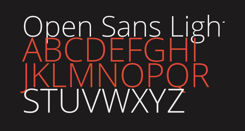 Open Sans Light