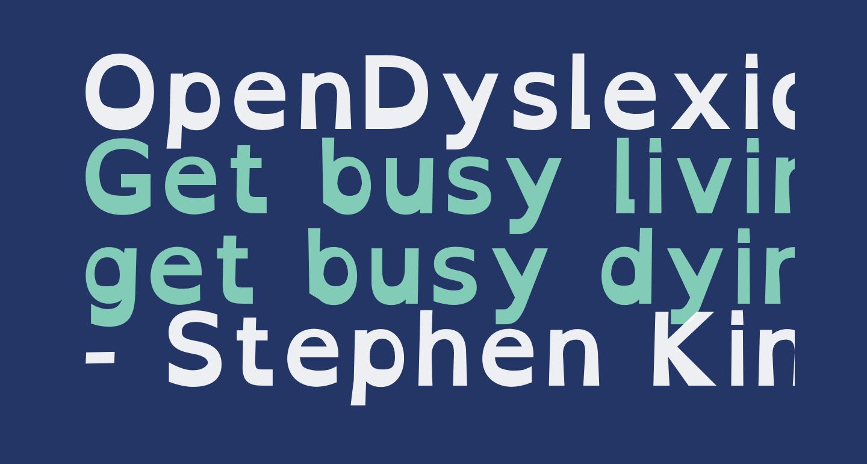 OpenDyslexic Bold