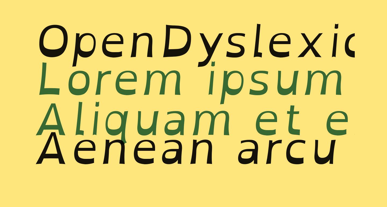 OpenDyslexic Italic