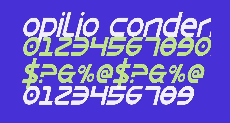 Opilio Condensed Italic