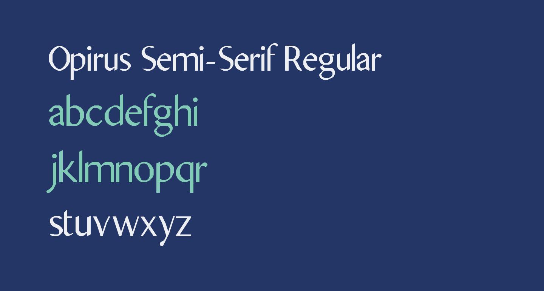 Opirus Semi-Serif Regular