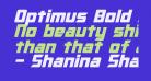 Optimus Bold Italic