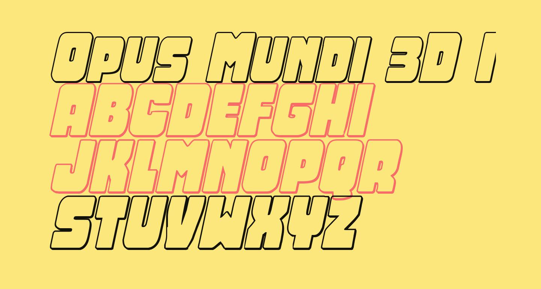 Opus Mundi 3D Italic