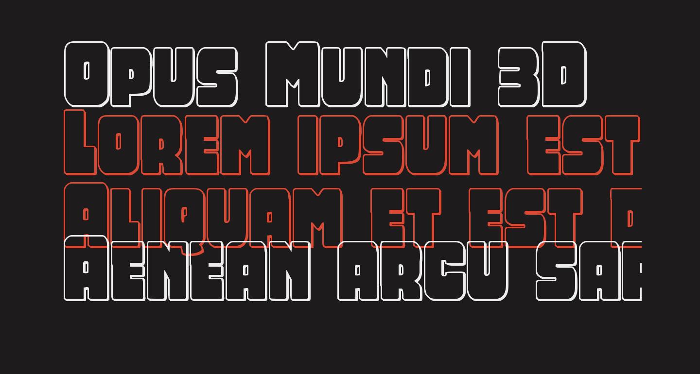 Opus Mundi 3D
