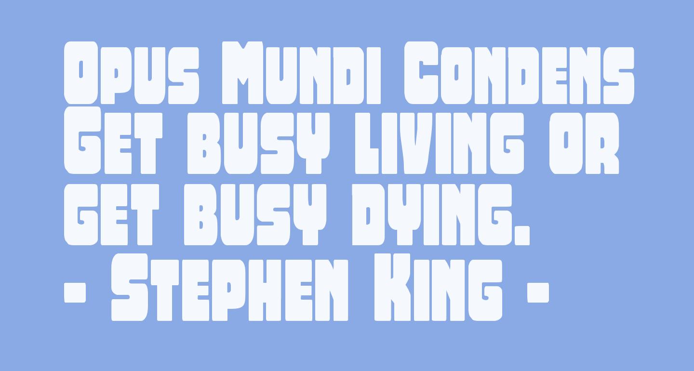 Opus Mundi Condensed