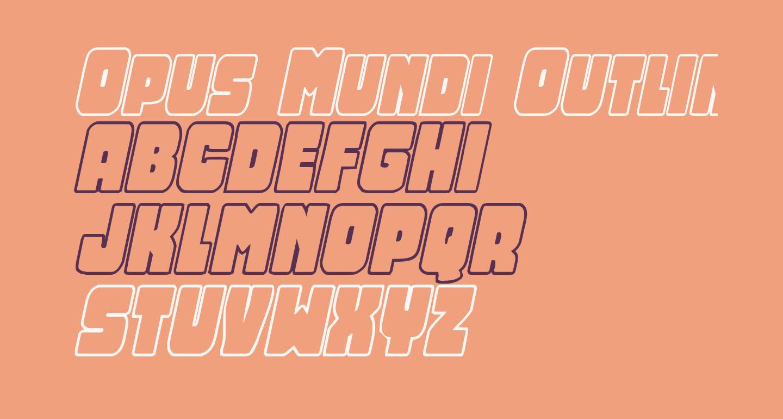 Opus Mundi Outline Italic