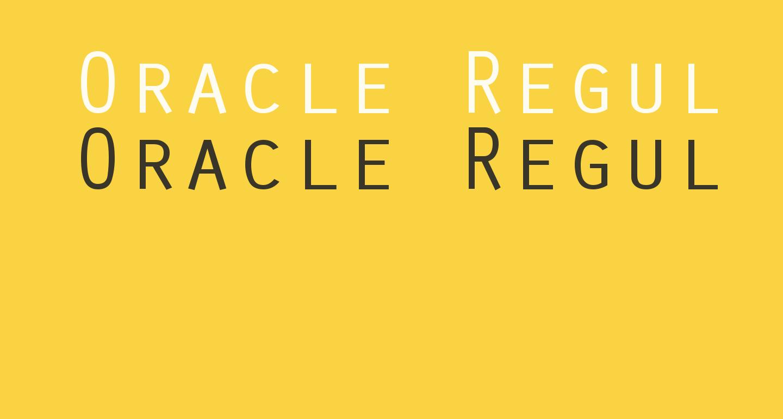 Oracle Regular