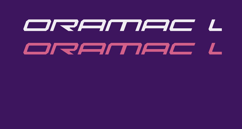 Oramac Light Italic