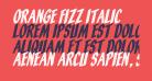 Orange Fizz Italic