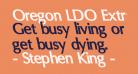 Oregon LDO ExtraBold Sinistral