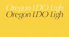 Oregon LDO Light Oblique