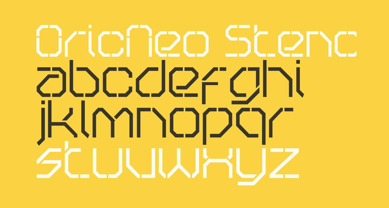 OricNeo Stencil
