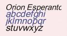 Orion Esperanto Kursiva