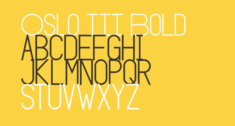 Oslo III Bold