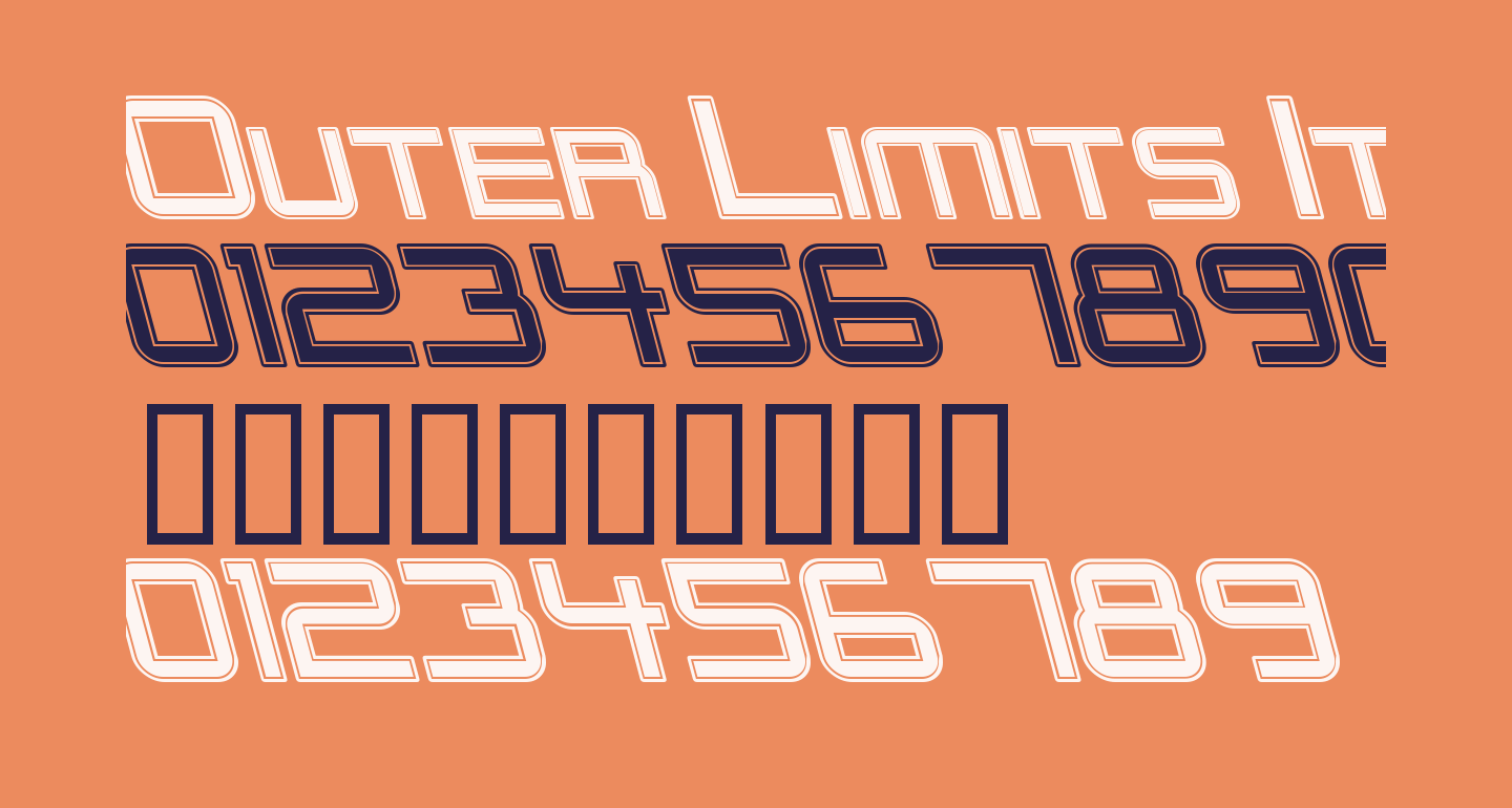 Outer Limits Italic