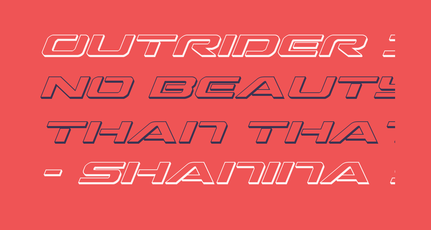 Outrider 3D Italic