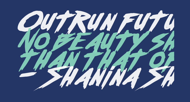Outrun future Bold Italic