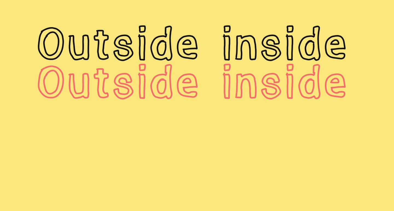 Outside inside outline