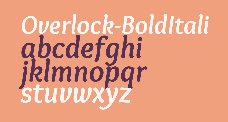 Overlock-BoldItalic