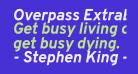 Overpass ExtraBold Italic