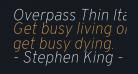 Overpass Thin Italic