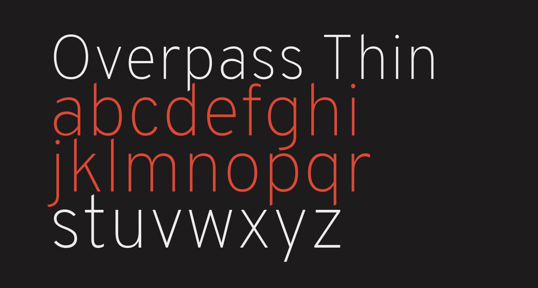 Overpass Thin