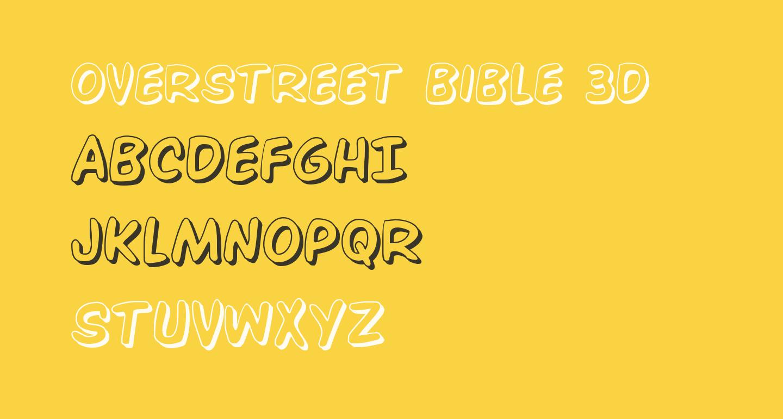Overstreet Bible 3D