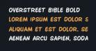 Overstreet Bible Bold