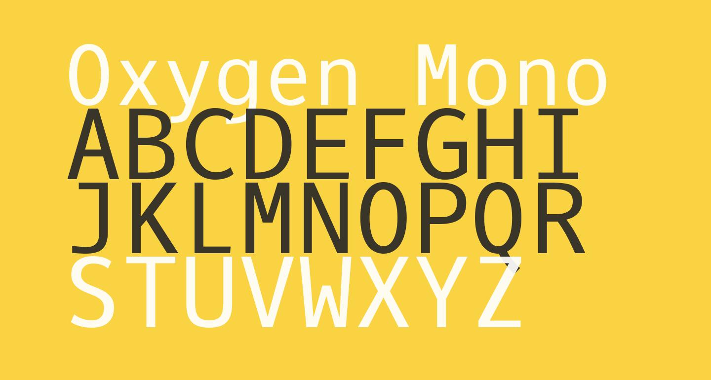 Oxygen Mono