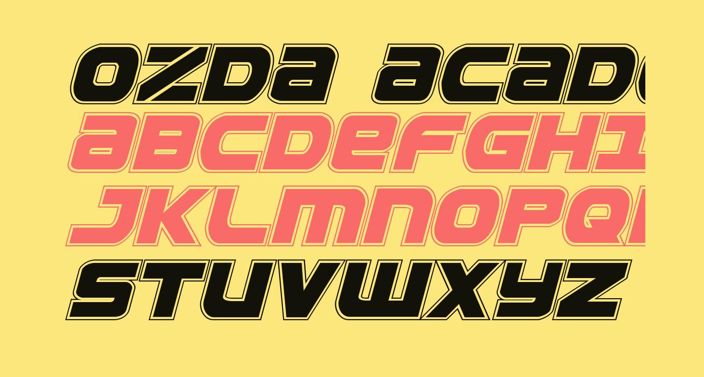 Ozda Academy Italic
