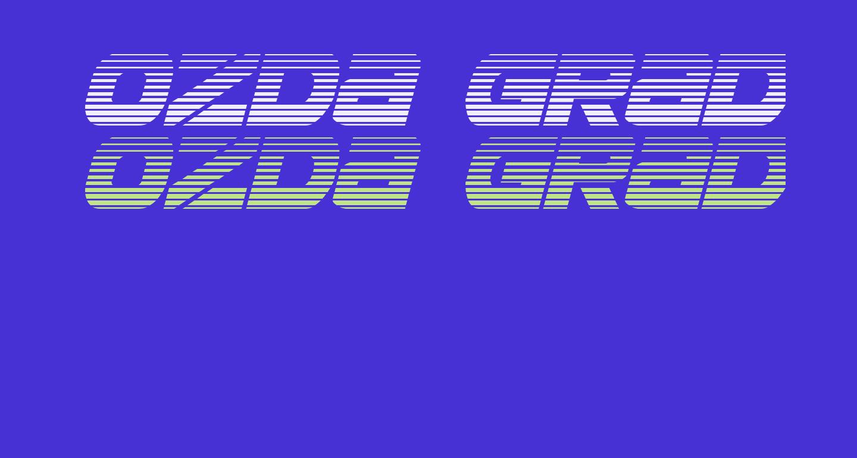 Ozda Gradient Italic