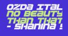 Ozda Italic