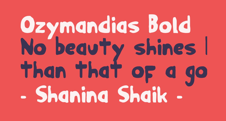 Ozymandias Bold