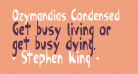 Ozymandias Condensed