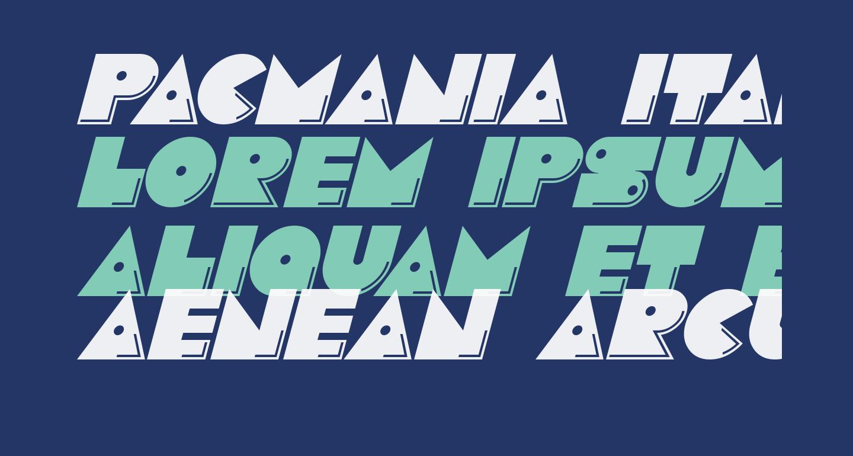 Pacmania Italic