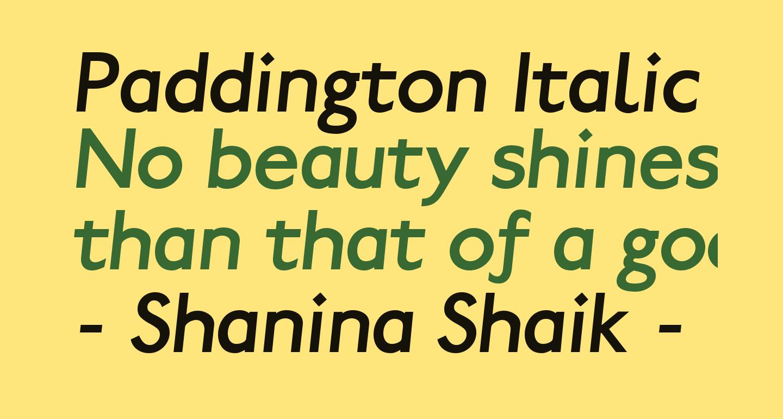 Paddington Italic