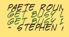 Paete Round Italic