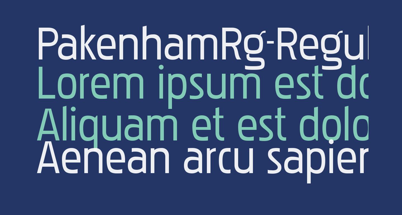PakenhamRg-Regular