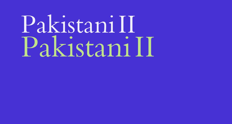 Pakistani II